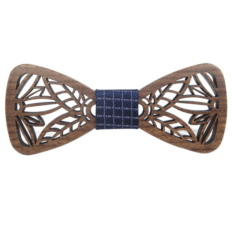 Fashionable Hollow Wood Bow Collar for Dog Cat Men Party Wedding Suits Wooden Collars Butterfly Shape Bowknots Gravatas