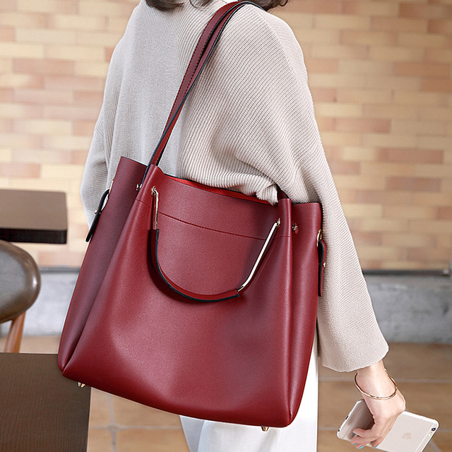 c31b32219143 Women s Leather Handbags Big Size Luxury Handbags Casual Composite Bag  Women Bags Women Messenger Bags Shoulder