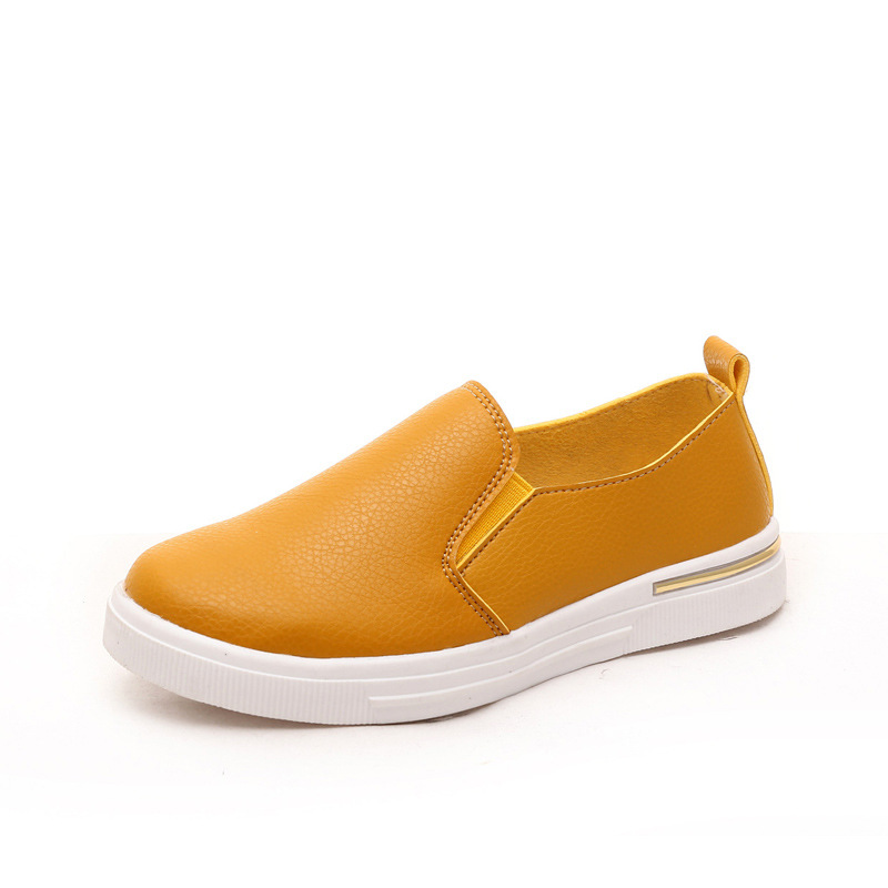 New Arrival Autumn Children Boys Shoes Girls Fashion Genuine Leather Shoes Solid Slip On Kids Casual Shoes Children outwear aadct spring new travel children shoes low cut casual boys running shoes real leather kids shoes for little girls brand