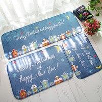 Carpet Christmas Snow Socks Mat Cartoon Children Land Pad New Year Decoration Gift Home Doormat Living