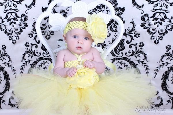 Tutu dress yellow for baby