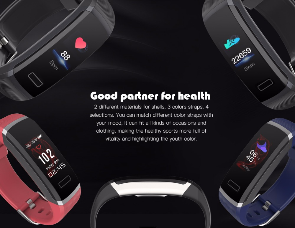 Pulseira inteligente tela colorida pulseira inteligente monitor