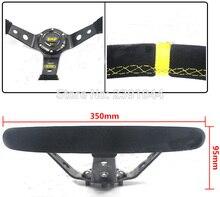 350 MM Corrida esportes camurça Deep Dish Deriva Esporte Corrida Volante Moldura De Alumínio amarelo