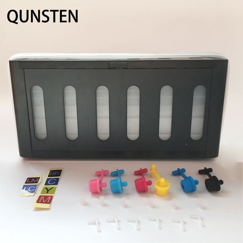 New Black Outer Case 6 Color 100ML Continuous Ink Supply System Universal DIY CISS Tank Replacement For HP Canon EPSON PrinterNew Black Outer Case 6 Color 100ML Continuous Ink Supply System Universal DIY CISS Tank Replacement For HP Canon EPSON Printer