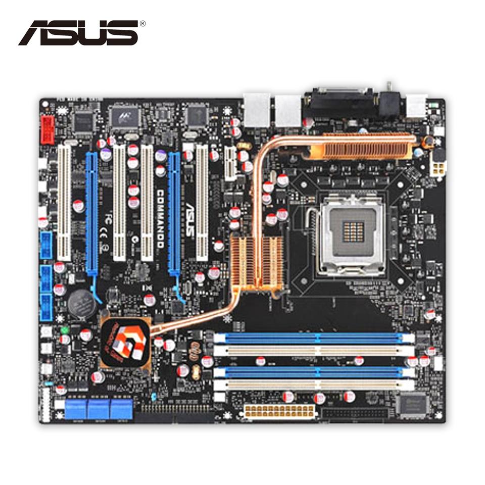 Asus Commando Original Used Desktop Motherboard P965 Socket LGA 775 DDR2 8G SATA2 USB2.0 ATX asus original motherboard g31m s2l g31 ddr2 lga 775 motherboard