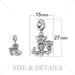 Image 5 - JewelryPalace البومة الأسرة 925 فضة الخرز Charms الفضة 925 الأصلي لسوار الفضة 925 الأصلي صنع المجوهرات