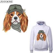 ZOTOONE Iron on Dog Patch Heat Transfer Vinyl Stickers for Kids Clothing DIY T-shirt Iron-on Transfers Applique Thermal Press