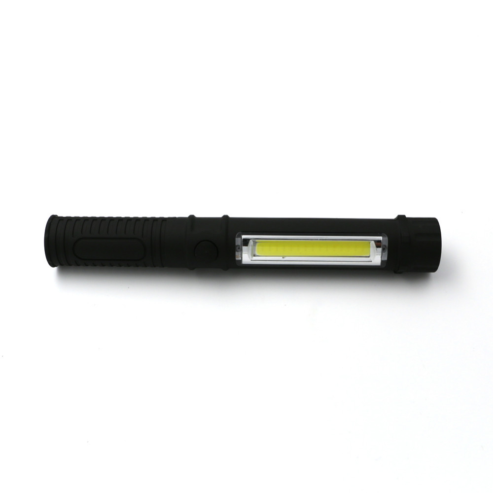 Multifunctional COB LED Mini Pen Light Work Inspection Flashlight Torch Lamp With Bottom Magnet and Clip