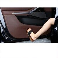lsrtw2017 fiber leather car door anti kick mat seat anti kick mat co pilot storage anti kick mat for bmw x5 2019 2020 2012 G05