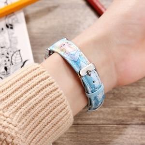 Image 4 - Frozen Elsa Princess Girl Cuties Butterfly Bowknot Watch Student Leather Quartz Beautiful Wristwatch Disney Child Clock Gift box