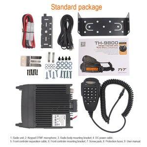 Image 5 - 1901A TYT TH 9800 Plus Walkie Talkie 50W Auto Mobiele Radio Station Quad Band 29/50/144/ 430MHz Dual Display Scrambler TH9800