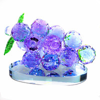(5 colors) Grape Crystal Figurines Glass Fruit Paperweight Art&Collection Table Ornament Home Wedding Decor Lady Kids Gifts