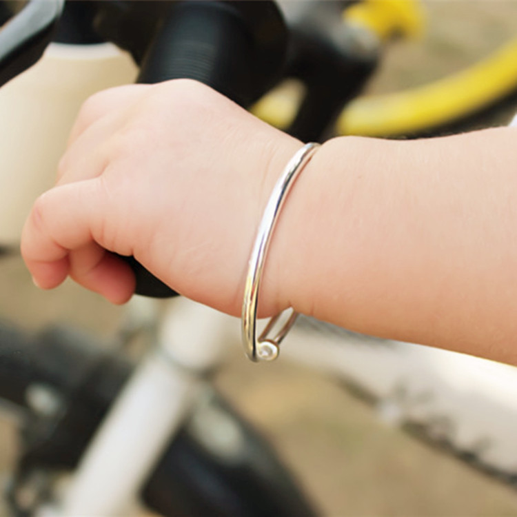 Baby Children Real Silver990 Sterling Silver Bracelets Purer Than 925 Bangles Very More Green Other Materials In From Jewelry