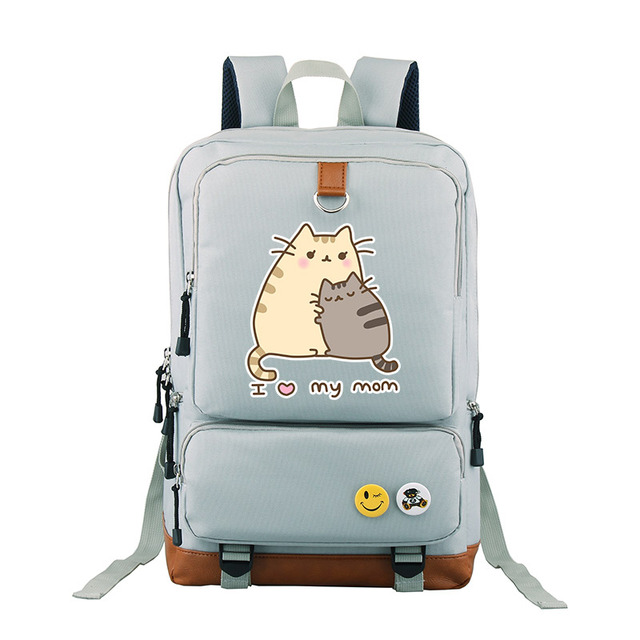 1feaea5b9d Αγορά Άνδρες ' s Τσάντες | New Arrival Pusheen Cat Printing Backpack ...