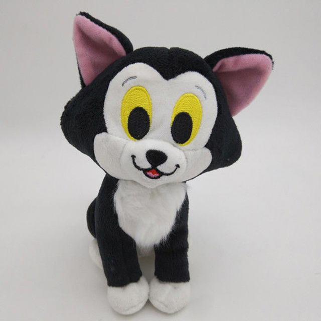 New Pinocchio Figaro Cat Plush Stuffed Animal Black Cat 7 Toy In