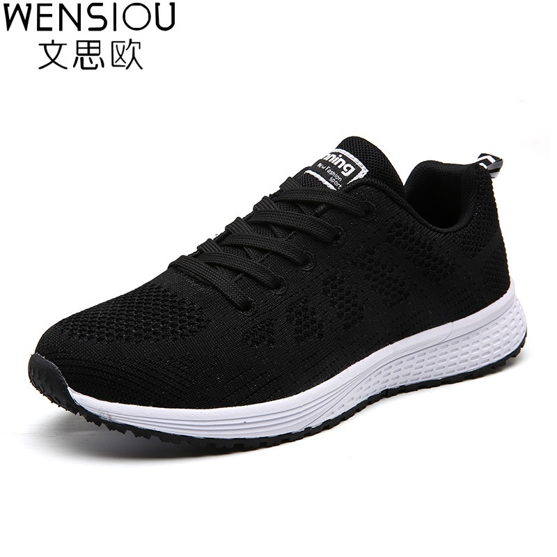 Women Sneakers Vulcanize Shoes Air Mesh Tenis Feminino Fashion Summer Ladies Casual Shoes Women Lace Up Footwear Shoes Ayd145 by Wensiou
