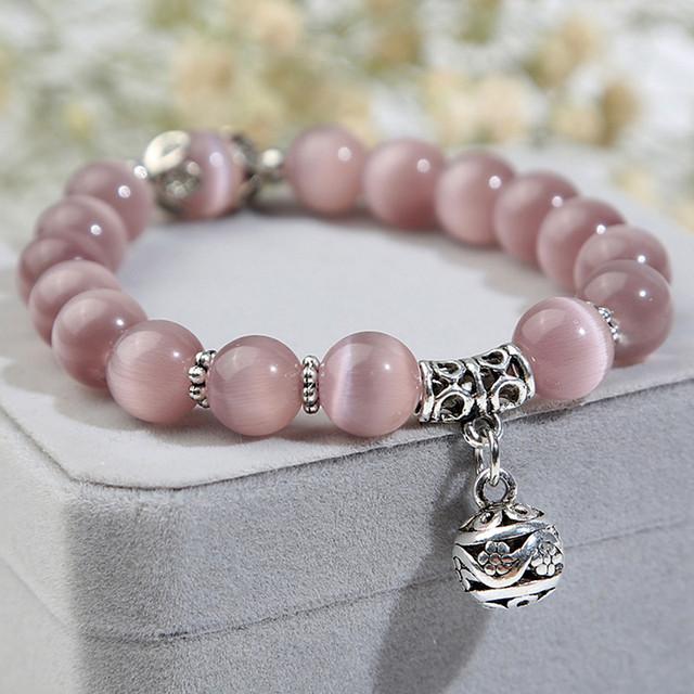 Natural Opal Bead Bracelet