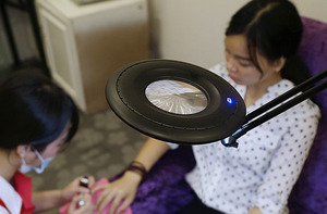 Image 5 - Lâmpada do lupa do diodo emissor de luz, clipe para braço giratório, clipe de mesa para reparar luz em mesa vidro lente de tatuagem de manicure cosmetologia