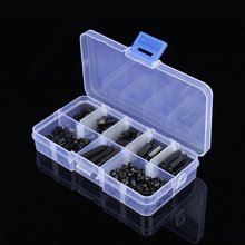 Wholesale 180pcs/Set M3 Nylon Black Column Male Female Standoff Spacer Screw Nut Assortment Kits High Quality