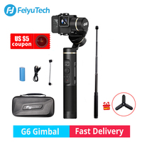 Feiyu Tech G6 Gimbal стабилизатор Feiyu Действие Спорт камера Steadicam Wi Fi Bluetooth OLED Экран угол для Герой 6 5 4 RX0 в наличии