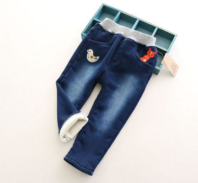 New Arrival Baby Girls Winter Wam Denim Jeans Girls Thick Casual Jeans Kids Winter Trousers Child Warm Pants new thick warm winter jeans women skinny stretched denim jean pant plus size casual office lady pencil pants cheap clothes xxxxl