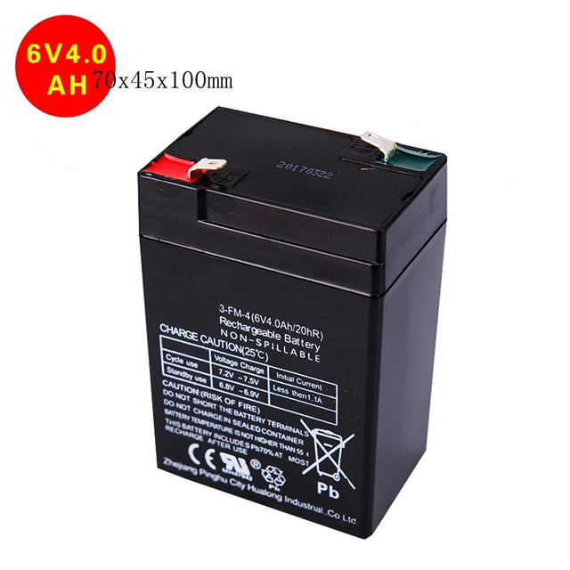 High Quality Toy Car Battery 6v 4ah Rechargeable Sealed Lead Acid