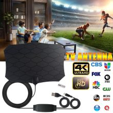 120Km Antena TV Digital 25DB HDTV Antena dengan Penguat Sinyal Booster Radius Fox DVB-T2 Indoor Satelit Grid Udara(China)