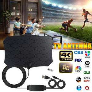 DVB-T2 120 Miles Digital TV Antenna 25DB HDTV Antenna With Amplifier