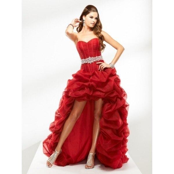 Vestido de novia con cinturon rojo