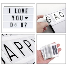 104pcs Cinematic Lightbox Replacement Letters & Numbers Signs black for A4 Light Up Letter Box Sign Message Board 65.4x35mm(LE