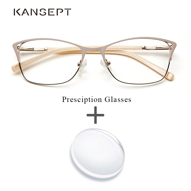 Metal Women Prescription Glasses Fashion Myopia Cat Eye Progressive Clear Optical Photochromic Ready Glasses Oculos De Grau