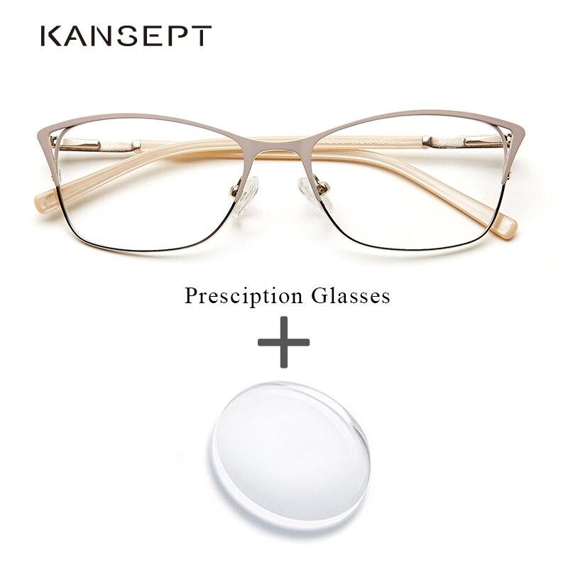 Damenbrillen Nett Metall Frauen Rezept Brillen Mode Cat Eye Progressive Übergang Klar Optische Verordnung Brille Oculos De Grau Aromatischer Charakter Und Angenehmer Geschmack Bekleidung Zubehör