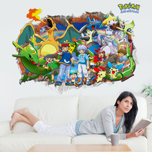 The new pokemon LV2205 decorative painting wall stickers 3d