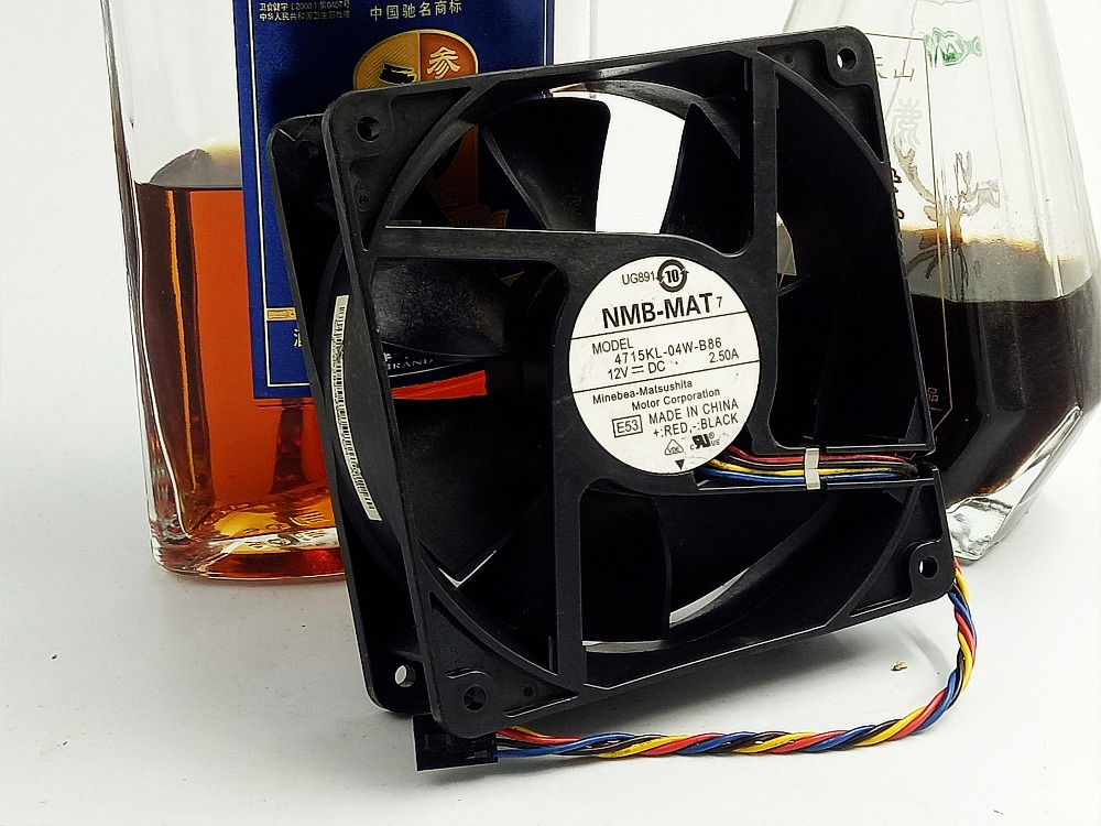 NMB 1238 double ball 12V2.5A 4715KL-04W-B86 FOR Dell PE800 server fans