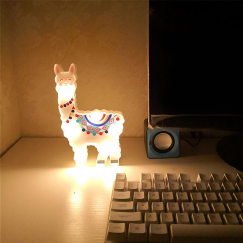 6leds Alpaca Modelling Battery Powered Night Lamp  1