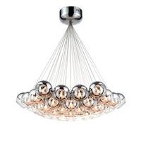 Modern LED Glass Ball Pendant Light Living Room Hotel Hall solar Loft light Lamp Nordic designe Sliver Glass Globe hanglamp