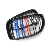 Front Center Kidney Grilles For BMW E81 E87 120d 120i 130i Gloss Black Mixed Color Grill 2008 2009 2010 2011