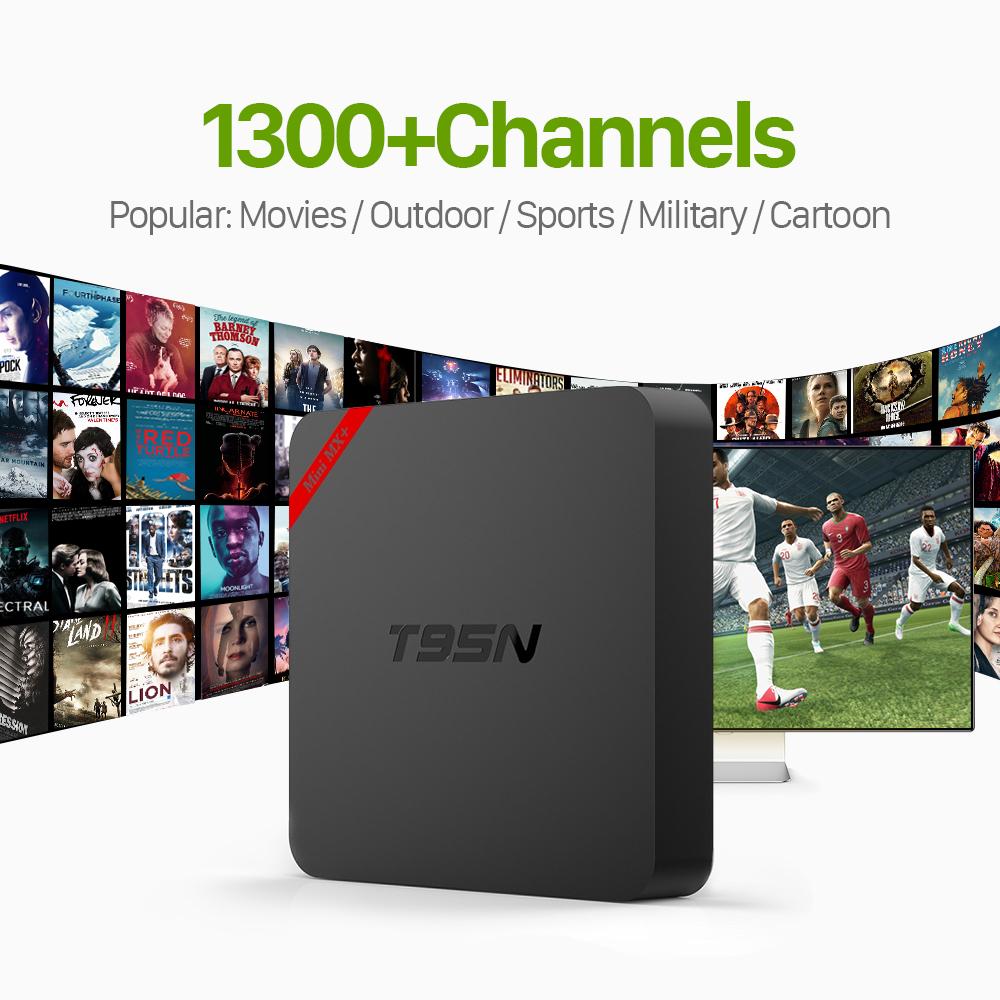 Prix pour Meilleur Européenne T95N Android 6.0 IPTV TV Box avec Livraison QHDTV IPTV 1300 Canaux Canal Plus Français Italie ROYAUME-UNI Arabe IPTV Set Top Box