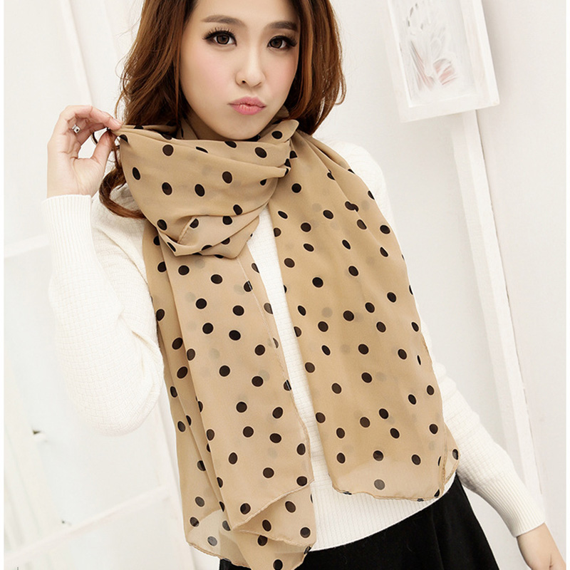 Supernova Sale Polka Dot Stylish Girl Long Soft Silk Chiffon   Scarf     Wrap   Shawl Scarve For Women Hot Sale