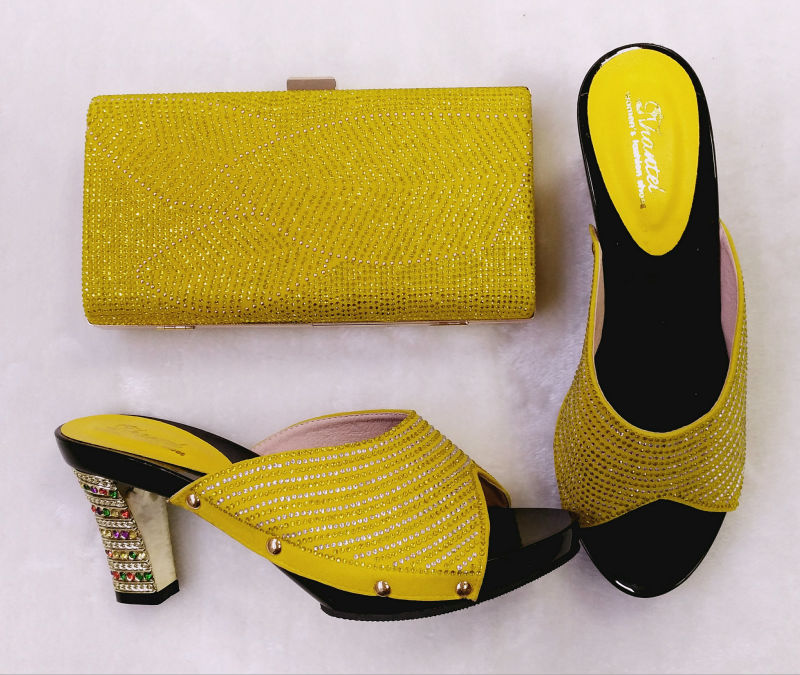 ФОТО New Coming African Sandals Italian Shoes And Bags To Match Shoes With Bag Set Italian Matching Shoes And Bags For Party TH02-01