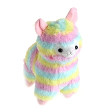 1Pc Stylish Lovely Rainbow Alpaca Plush Toy Baby Stuffed Soft Plush Doll Gift 17cm -B116