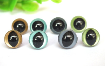 80pairs/lot 12mm cat eyes and round eyes-mixed color doll eyes for Amigurumi Toys