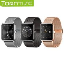 Torntisc 2017 nueva Z50 Inteligente Bluetooth Reloj smartwatch apoyo SIM tarjeta DEL TF mp3 mp4 compatible para iphone 6 6 sIOS Android teléfonos