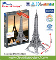 new clever&happy land  3d puzzle model   Eiffel Tower  adult puzzle diy paper warsaws model games for children paper
