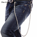 "New Men 87cm /34""  Extra Long Silver Metal 9mm Balls Wallet  KeyChain Biker Jean Trucker Fashion Hip Hop Waist Chain KB42"