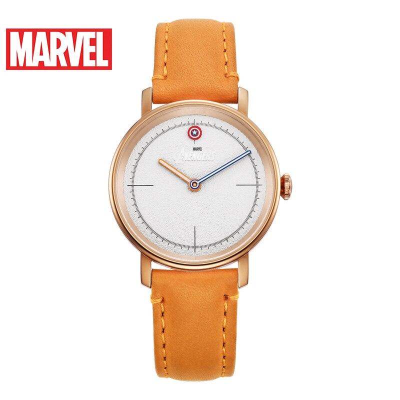 Marvel Avengers femmes bracelet en cuir étanche montres à Quartz dames Captain America Hero montre à la mode Top Femme Disney horloge nouveau