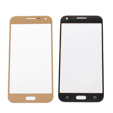 10pcs/lots Blue / white/Gold Replacement Front Outer Screen Glass Lens For Samsung Galaxy E5 E500F Free shipping