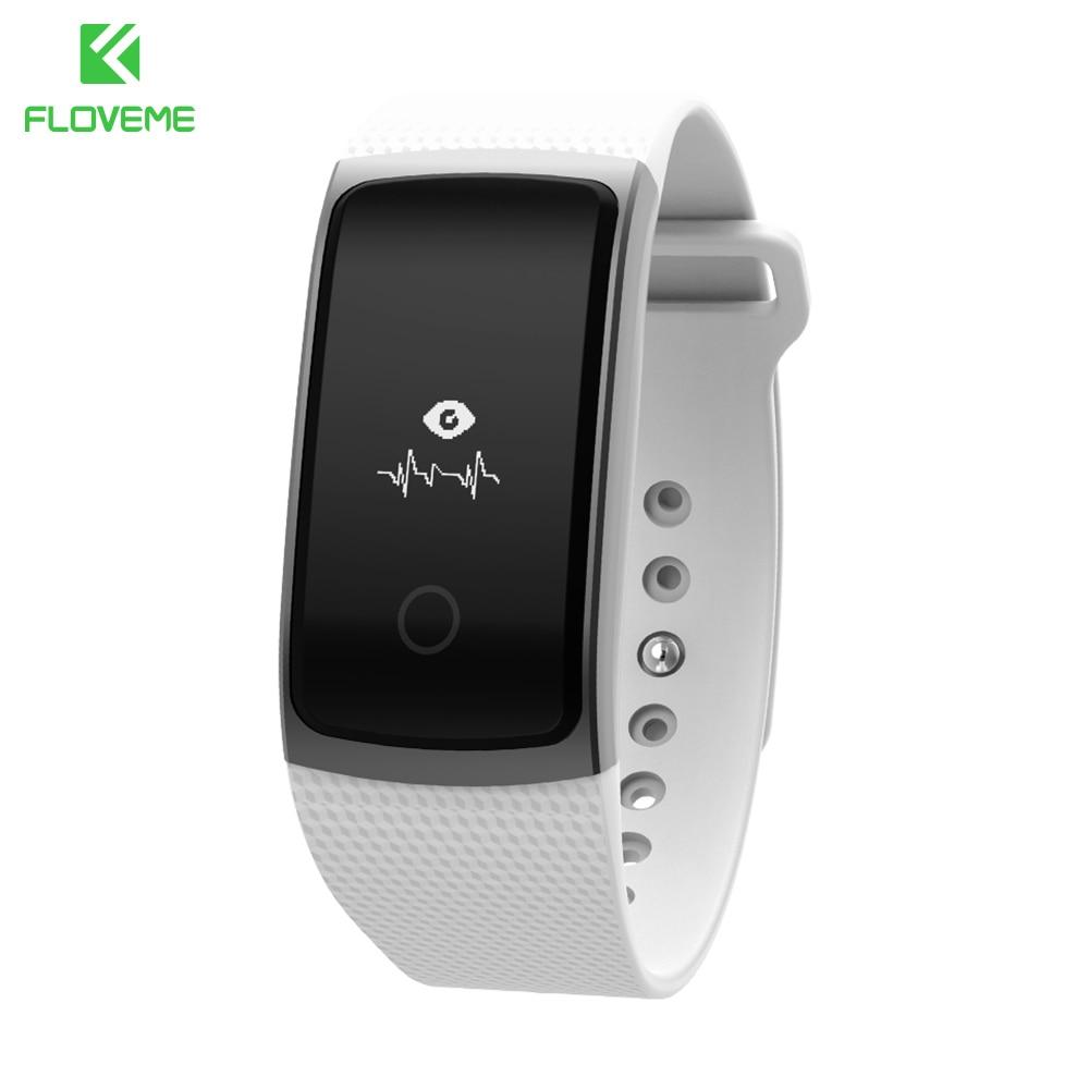 FLOVEME A9 Sport Passometer Heart Rate Monitor Bluetooth 4 0 For iPhone Samsung Smart Watch Men