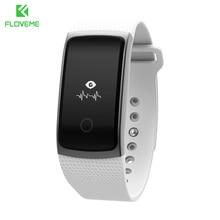 Floveme a9 deporte pasómetro monitor del ritmo cardíaco de bluetooth 4.0 para el iphone samsung smart watch hombres mujeres android ios pulsera reloj