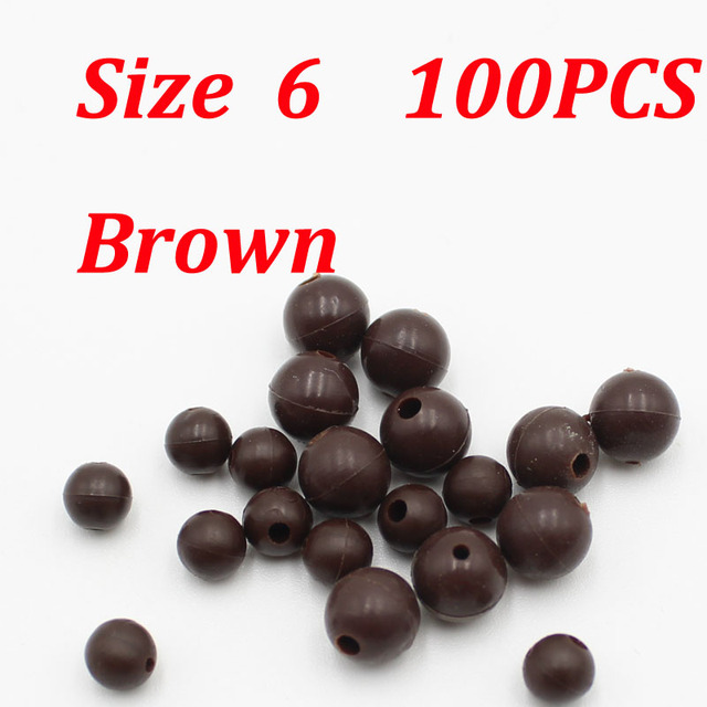 100X Soft Round Rubber Carp Fishing Rig Beads Fishing Accessory Floating Tackles
